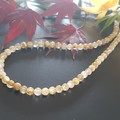 Golden Rutile included Quartz and Sterling silver necklace