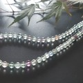 Faceted Flourite and Sterling silver necklace