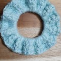 Deluxe Iced Mint Crochet Hair Scrunchie