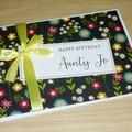 Happy Birthday card - floral design