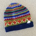 Men's Fox Beanie  -hand knitted