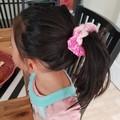 Deluxe Iced Mint Crochet Hair Scrunchie