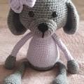 Handmade Crochet Puppy, Amigurumi, Soft Puppy Toy, Crochet Toy, Kids Puppy Toy