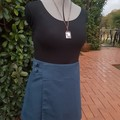4 Seasons Wrap Skirt - 4 in 1 Blue palm