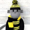 Richmond Tigers Footy Sock Monkey - *READY TO POST*