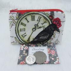 Coin & Card Purse  - Black Crow