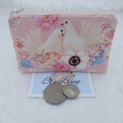 Coin & Card Purse  - Blush Dove
