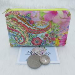 Coin & Card Purse  - Bright Swirl