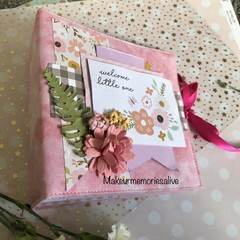 """Welcome little one- Baby Girl"" Mini Photo Album"