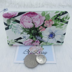 Coin & Card Purse  - Geometric Floral