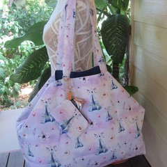 Beach Bag, Shopping Tote, Carry All - Teepee Print With Detachable Coin Purse