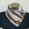 Earthy colours Crochet cowl / Neck warmer / scarf - FREE SHIPPING