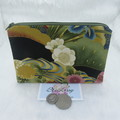 Women's Script Wallet Cosmetic Jewelry Pouch - Japanese Floral