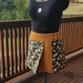 4 Seasons Wrap Skirt - 4 in 1 Mustard & Cream flowers