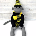 Richmond Tigers Footy Sock Monkey - *READY TO POST*