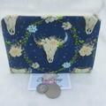 Women's Script Wallet Cosmetic Jewelry Pouch - Boho design
