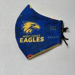 Cotton Face Mask - Football West Coast Eagles