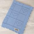 Baby Blanket 100% Pure Australian Luxury Wool - Handmade Crochet