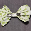 Green Leaves Bow With Matching Scrunchie Set