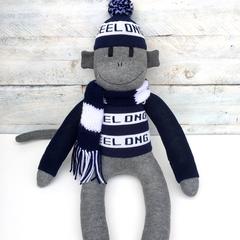 Geelong Cats Footy Sock Monkey - *READY TO POST*
