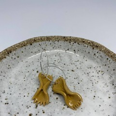 """Butterfly Pasta"" Handmade Hoop Earrings"