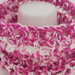 Pinks and White infinity scarf