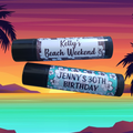 TROPICAL FLOWERS Lip Balm // Personalised with your message for any occasion.