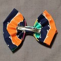 Multicoloured Stripes Wide Scrunchie and Bow Set