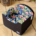 Tail Rider Dog Booster Seat - Small 'Watercolour Flamingos''