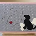 Birthday / Pet bereavement  Sympathy Card - dog silhuette