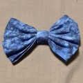 Blue Marble Wide Scrunchie and Bow Set