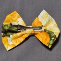 Yellow Floral Bow With Matching Scrunchie Set
