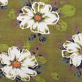 Retro Flowers -  Barkcloth Cushion -  Vintage Upcycled - Handmade