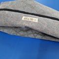 Shoe Bag/Wine Bottle Bag/Knitting Needle Bag -  Taupe Geometric
