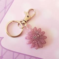 Pink Daisy Flower key chain,  Kawaii handbag decoration, school bags, backpacks,