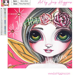 "5D Diamond Painting Kit ""Peony Rose Fairy"" - Complete Art Kit Full Square Drill"