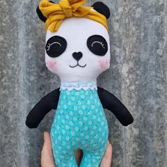 handmade panda softie doll