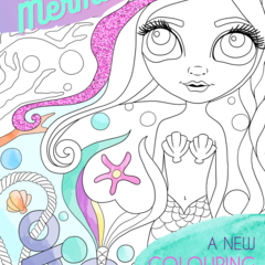 """Magical Mermaids"" Colouring Book for adults or kids! FREE SHIPPING."