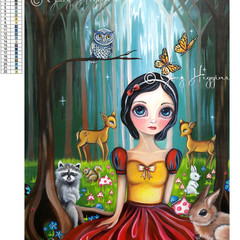"5D Diamond Painting Kit ""Snow White"" - Complete Art Kit Full Square Drill"