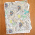 Cotton baby burp cloths - Llamas