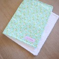 Cotton baby burp cloths - Aqua Floral