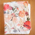 Cotton baby burp cloths - Red Floral