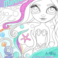 """""""Magical Mermaids"""" Colouring Book for adults or kids! FREE SHIPPING."""