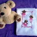 """""""Ballerina Bears"""" Baby Blanket"""