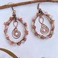 Rose Quartz and Moonstone Goddess Earrings