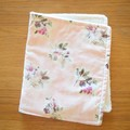 Cotton baby burp cloths - Antique Rose