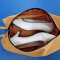 Shoe Bag/Wine Bottle Bag/Knitting Needle Bag - Gold