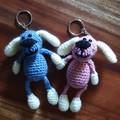 Crochet Puppy Keychains, Puppy Amigurumi, Handmade Keychain, Unique Keychains