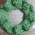 Deluxe Leaf Crochet Hair Scrunchie