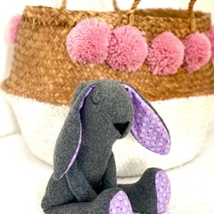 Handmade Bunny, READY TO POST, Bunny Rabbit Softie, Baby Girl Toy